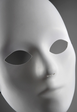 Blank Masks White Full Face Adult