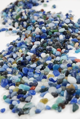 Blue Assorted Glass Pebbles 46 ounces