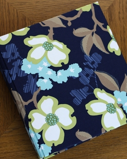 Blue Flower Recipe Journal Rag & Bone Bindery