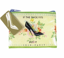 "Blue Q Shoe Money Coin Purse (4"" x 3"" )"