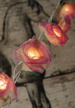 Bodhi Leaf Rose String Lights | Pink