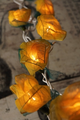 Bodhi Leaf Rose String Lights | Yellow