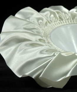 "Bouquet Holder Collars Oasis 7.5"" Ivory Satin Medium (6 holders)"