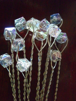 Bouquet Jewelry Crystal 11 in Wire Stems (12 stems /pkg)