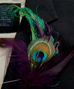 Boutonni�re Peacock Feathers