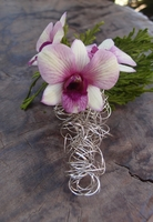 Boutonniere Holders Wire Tear Drop with Pin