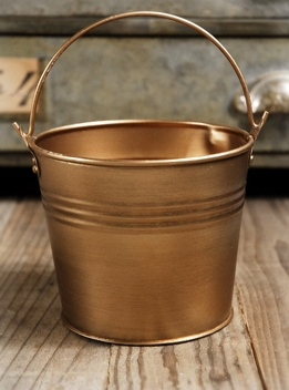 Brass Bucket 5in
