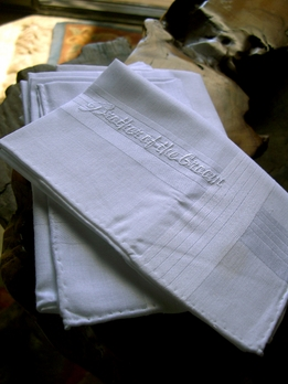 BROTHER OF THE GROOM Wedding Personalized Handkerchief Embroidered