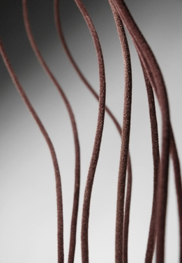 Brown Velvet Covered Curly Willow (10 pieces ) 4 foot Branches