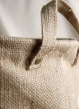 Burlap Bag w/Handles and Liner 9in