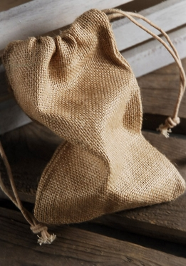 Burlap Favor Bags With Drawstring 5in x 7in (Pack of 12)