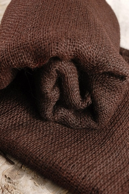 "Burlap Fabric Chocolate Brown 36"" width 5 yards"