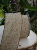 "Burlap Ribbon 3"" width 10 yards Wired"