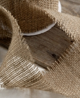 Burlap Ribbon 4 in. width x 10 yards Unfinished Edge