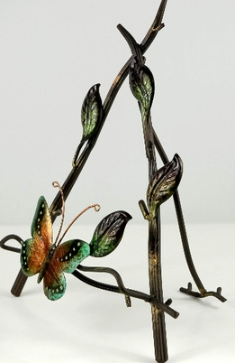 "Butterfly Easel 13"" Metal"