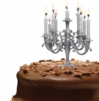 Cake Candelabra with Candles