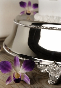 Silver Plated Wedding Cake Stand 18in