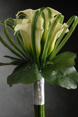 "Calla Lily Bouquet 13"" tall Artificial Flowers"