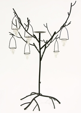 "Candle Trees 42"" with 6 Glass Candle Holders (2 candle trees)"