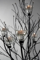 Candle Tree Black 5ft with 7 Candleholders