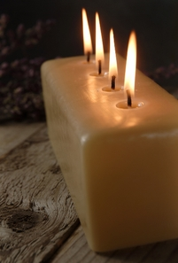 Cathedral Candles Unscented 4 Wicks