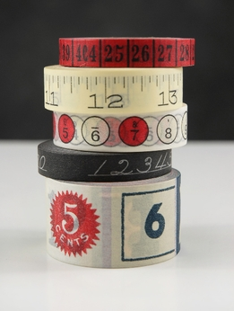 Cavallini Numbers Paper Tapes Assortment NUMBERS 5 Rolls