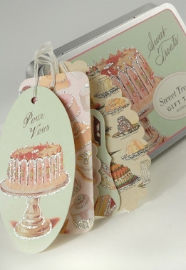 Cavallini Sweet Treats Glitter Gift Tags 36 tags