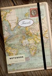 Cavallini World Map Notebook 6 x 8