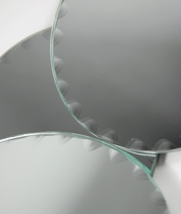 "Centerpiece Mirrors 5"" Round Scalloped Edge (6 mirrors)"