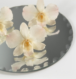 "Centerpiece Mirrors 6"" Round Scalloped Edge (6 mirrors)"