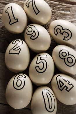 "Ceramic Eggs with Numbers 2"" (10 eggs/pkg)"