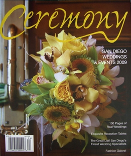 Ceremony Wedding Magazines San Diego 2009