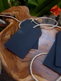 Chalkboard Tags with Strings (10 tags)