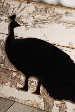 Chalkboards Toile Peacock 23 inch