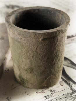 Rustic Charcoal Clay Pot 4in