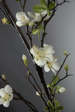 "Cherry Blossom Branches Cream White 57"" Artificial"