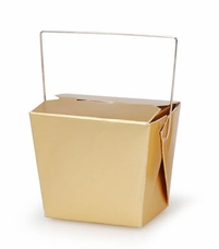 Chinese Take Out Boxes Gold 8 oz. (5 boxes/pkg)