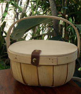 Chipwood Baskets with Lid