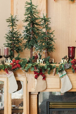 Christmas Mantel Decorations, Christmas Stockings