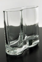 Clear Glass Wave Vase 8in