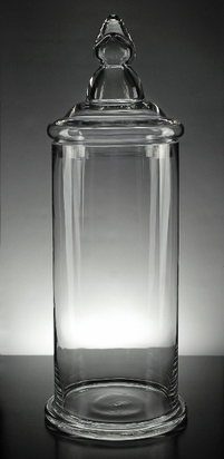 Clear Glass Apothecary Jar 19in