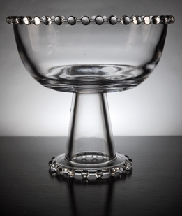 Beaded Edge Pedestal Bowl