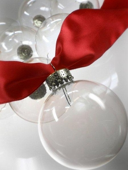 Clear Glass Christmas Ornament Balls 50mm/2 inch size (10/box)