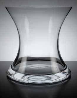 Clear Glass Mira Vase 5.5in