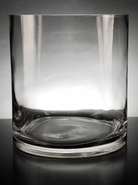 Clear Glass Cylinder Vase 10in
