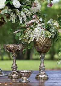 Compote Vases and Pedestal Bowls