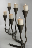 "Contemporary Candleholders 33"" Wrought Iron Candleholder Holder"
