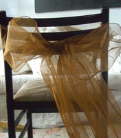 Copper Organza Chair Sashes (Pack of 10)