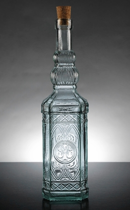 Moroccan Glass Bottle 12in