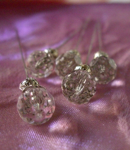 "Corsage Pins Crystal 2.5"" Duke Pins (5 pins)"